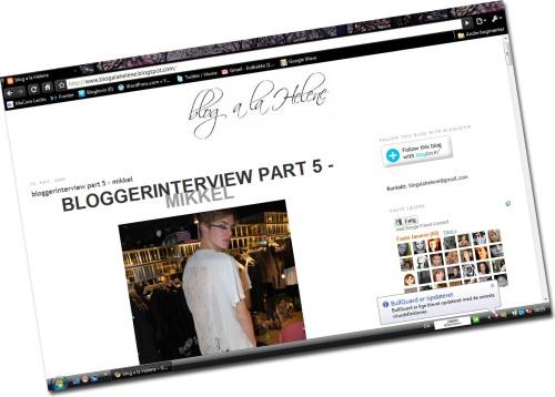 Interview med mig på Blog ala Helene!